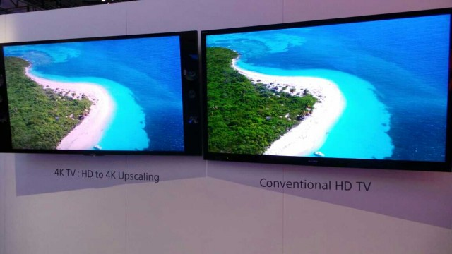 Sony's side by side HD and 4K comparison using the same content upscaled to 4K