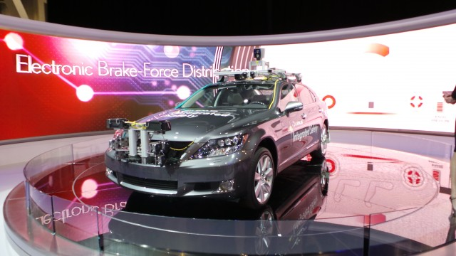 Lexus shows off their Integrated Safety Vehicle at the 2013 CES in Las Vegas