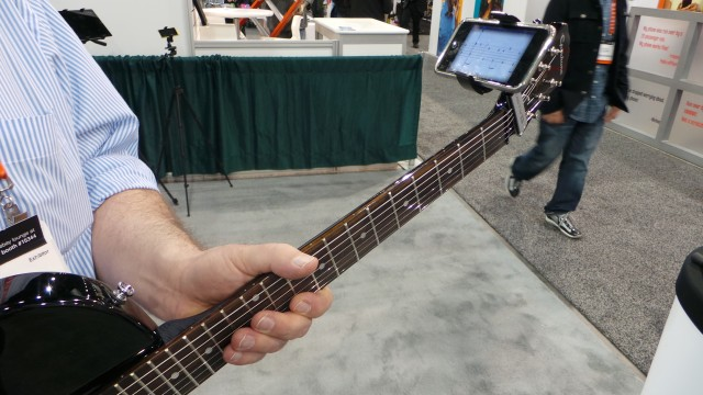 The Guitar Sidekick from Castiv on a Guitar