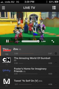Foxtel Go for iPhone - Live TV