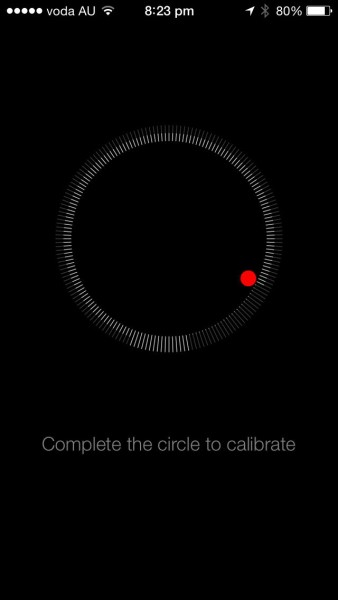 iOS7 - Calibrating the compass