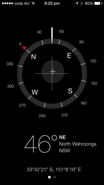 iOS7 - Compass app