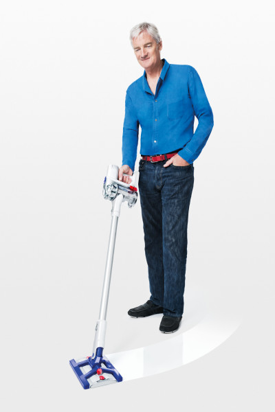 James Dyson with the Dyson Hard