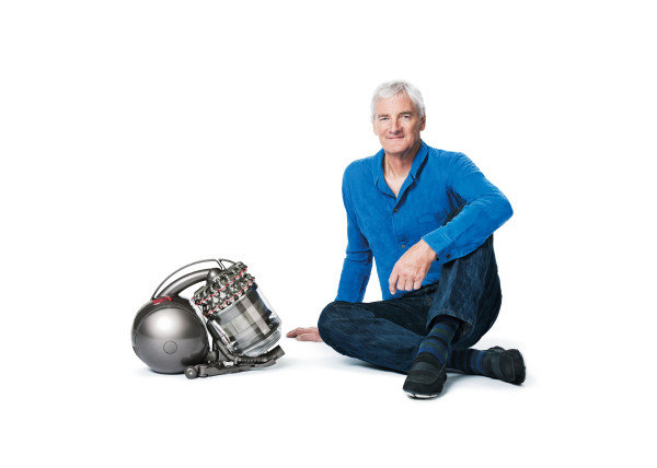 James Dyson with the Dyson DC54 Cinectic