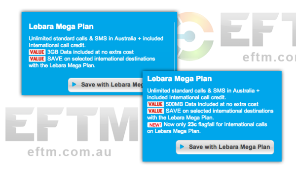 LEBRA Mobile - no longer has a huge data allowance in it's high end package