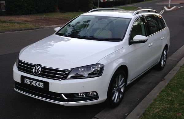 Volkswagen Passat - Sure it's on the street not the garage, but you get it:)