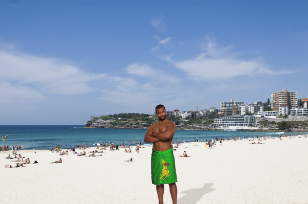 Isaiah Mustafa in Australia for Old Spice