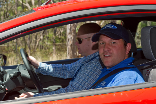 Chris Bowen drives the Ford Fiesta ST under the watchful eye of an expert!