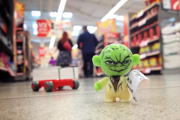 Kinder Surprise Star Wars YODA in the supermarket