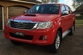 Toyota Hilux with the EFTM MyPlates display samples