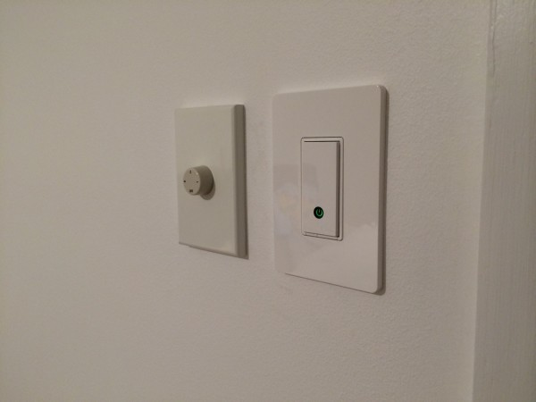 Belkin WEMO Light Switch alongside our fan controller
