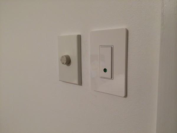 Belkin WEMO Light Switch alongside our fan controller