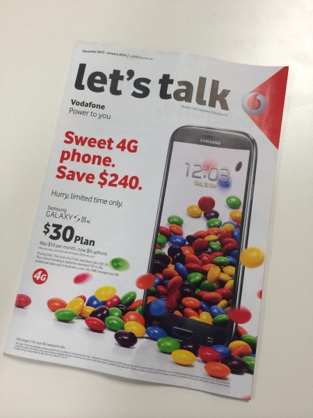"Vodafone's ""let's talk"" in-store magazine"