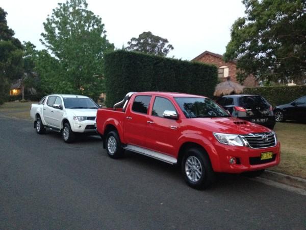 Toyota Hilux and Mitsubishi Triton