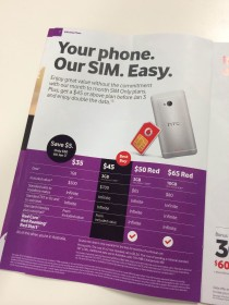 SIM Only plans listed in the Vodafone In-store magazine