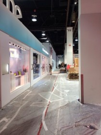 The setup continues around the huge LG booth at CES 2014 just a day before opening