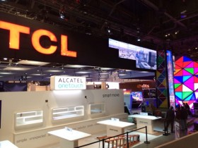 TCL's booth at CES 2014 in the final stages of construction just 36 hours before the show opens