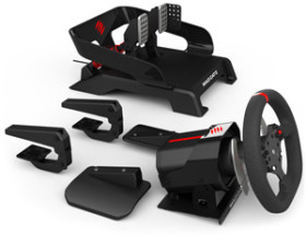 All the bits - Mad Catz Pro Racing Force Feedback wheel and pedals