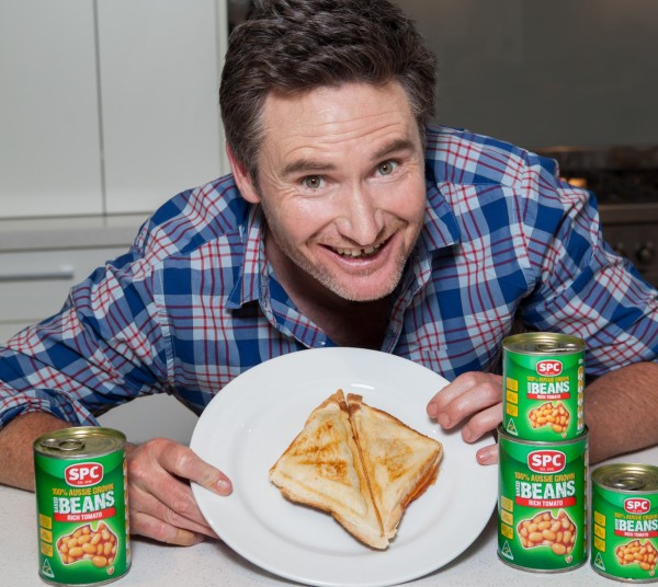 Hughsey and his Baked Beans Jaffle