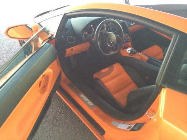 Inside the Lamborghini Gallardo at Exotics Racing Las Vegas