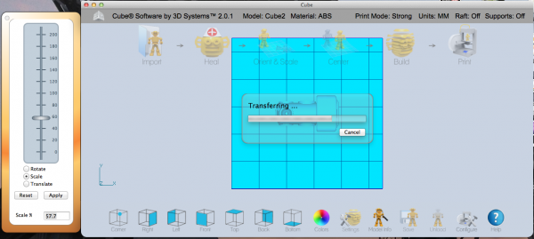 Cube 3D Printing software