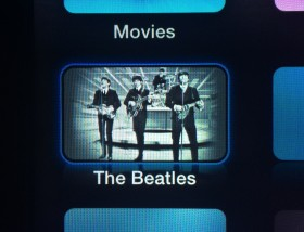 The Beatles channel icon on Apple TV