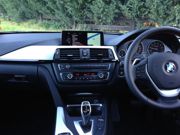 The dash on the BMW 328i