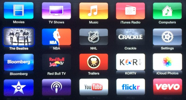 New App layout for Apple TV