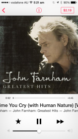 iTunes Radio - Now playing is a familiar interface with star and buy now options