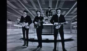 A glimse of the action on stage at the Ed Sullivan show 50 years ago