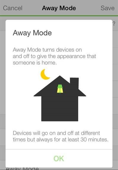 WeMo Away mode