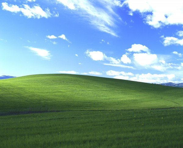 Bliss - the iconic Windows XP Desktop photo