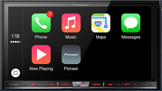 Pioneer CarPlay integration