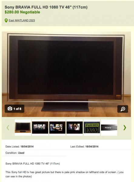 Gumtree TV Listing