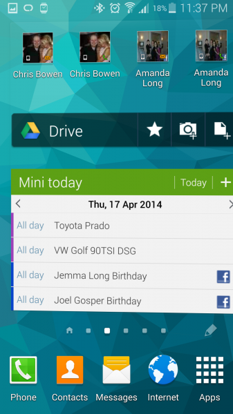 Android Widgets on a home screen