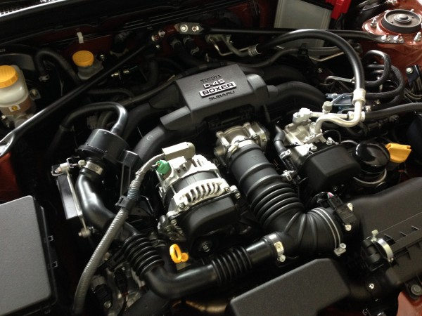 Under the hood - Toyota 86