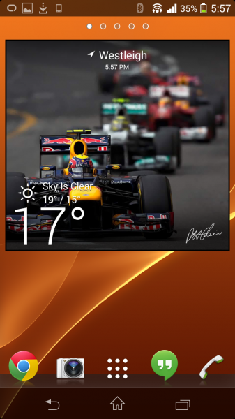 Racing Elements - Widget