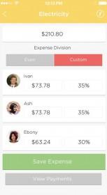 Splitting the bill - Fairshare app