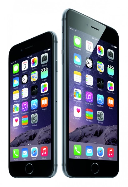 iPhone6-34FR-SpGry_iPhone6plus-34FL-SpGry_Homescreen-PRINT