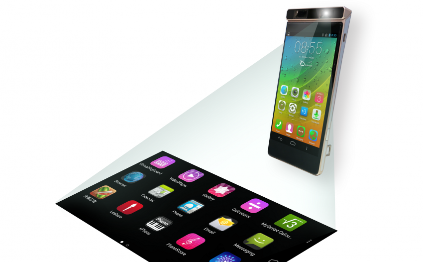 concept phone with projection small