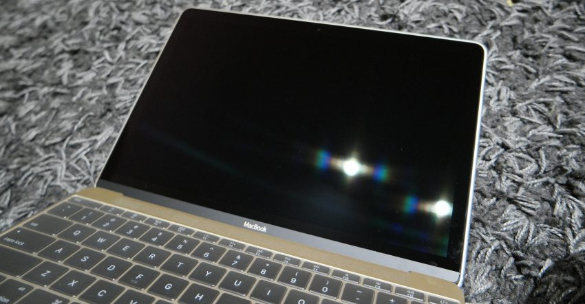 Your shiny new MacBook screen - BEFORE the iVisor