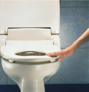 hand touching antimicrobial seat